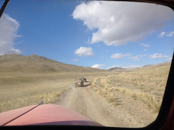 """Grinding out the miles in Mongolia"""