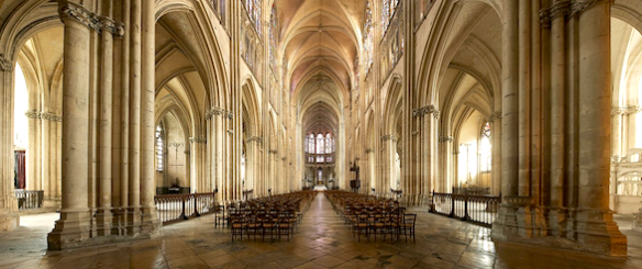 The Troyes Cathedral from the inside (photo found online)